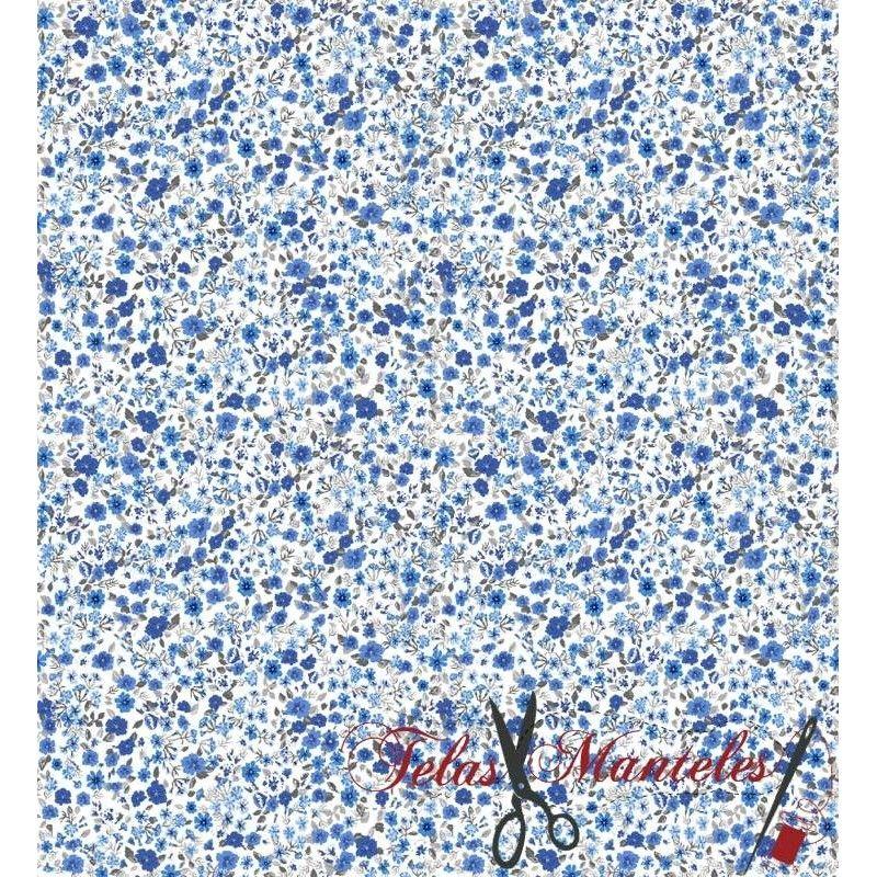 Algodón 100% Mod. Liberty London Azules