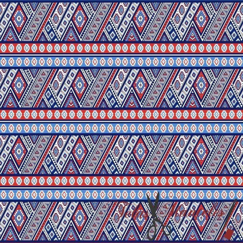 Popelín Algodón Tribu Azul