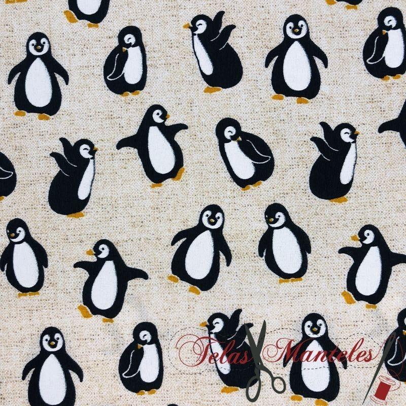Tela Impermeable Pingüinos