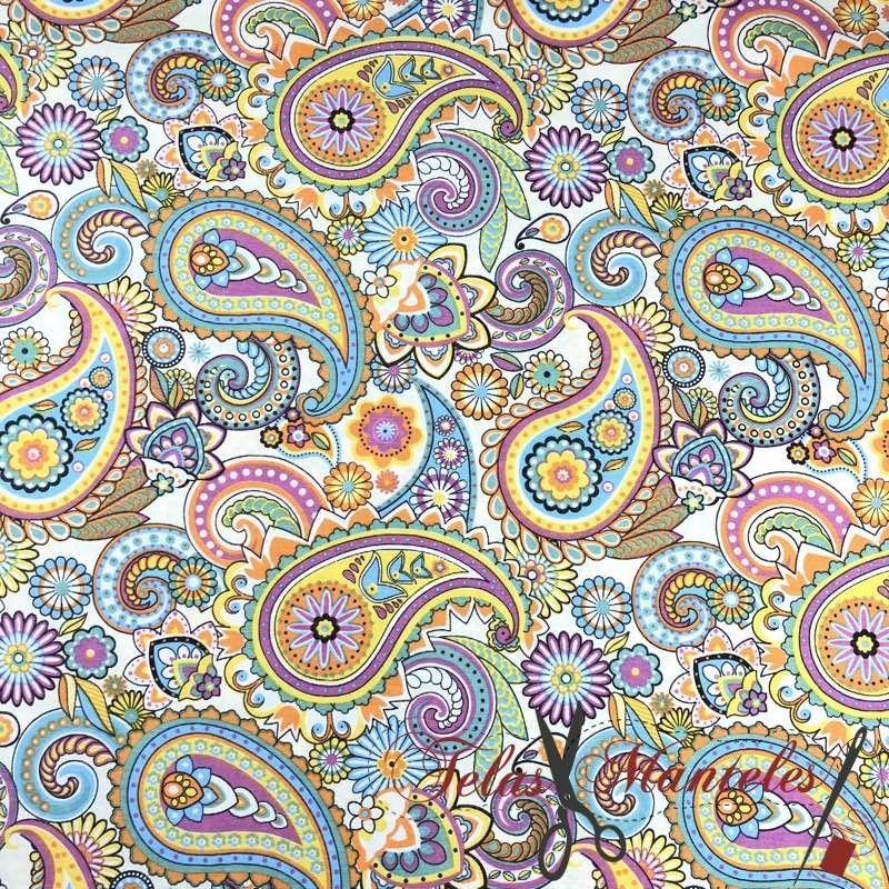 Tela Impermeable Cachemir Multicolor
