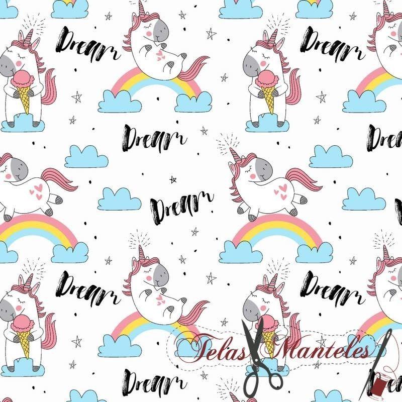 Tela Impermeable Unicornio Dream