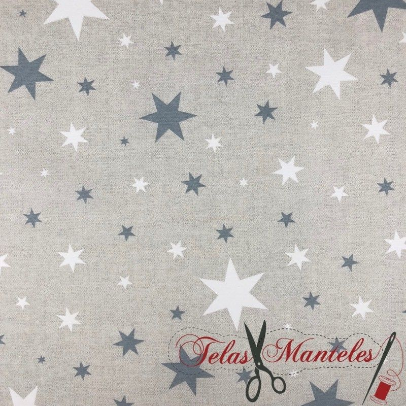 Tela Impermeable Stars Gris